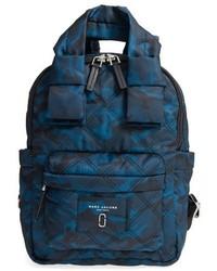 Marc Jacobs Nylon Knot Camo Backpack Blue