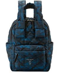 Marc Jacobs Nylon Knot Camo Print Backpack Navy