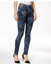Calvin Klein Jeans Camo Blue Wash Skinny Jeggings