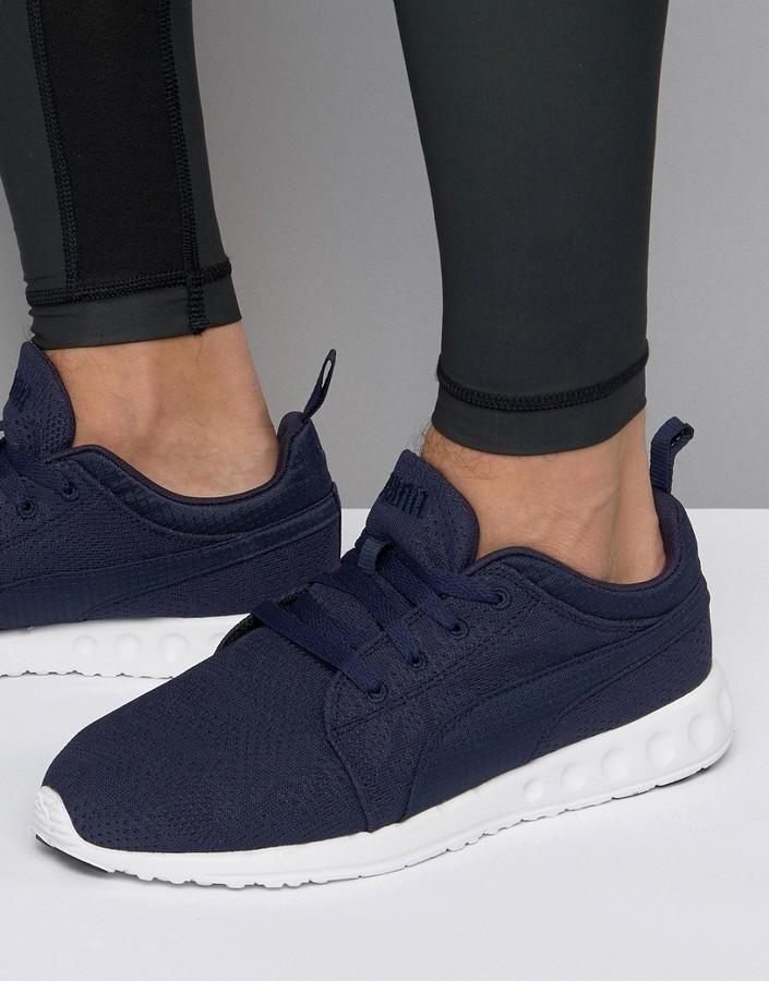 nouveau produit 566c4 b2549 $83, Puma Carson Runner Camo Mesh Eea Sneakers In Blue 18917303