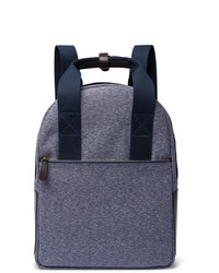 The Workers Club Leather Trimmed Canvas Backpack