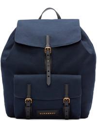 London navy canvas brookdale backpack medium 446716