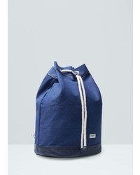 Mango Man Contrast Canvas Backpack