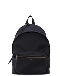 Saint Laurent Navy Canvas City Backpack