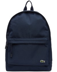 Lacoste Navy Canvas Small Neocroc Backpack