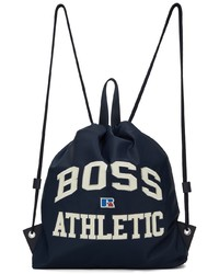 BOSS Navy Russell Athletic Backpack