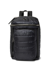 Moncler New Yannick Leather Trimmed Quilted Shell Backpack