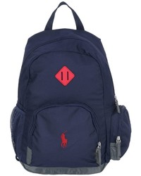 Ralph Lauren Embroidered Logo Canvas Backpack