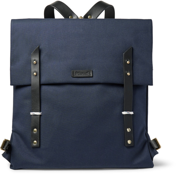 Miansai Santon Leather Trimmed Water Repellent Canvas Backpack ...