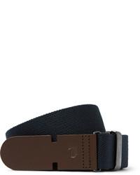 3cm blue leather trimmed canvas belt medium 1245935