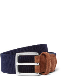 Andersons 35cm blue suede trimmed canvas belt medium 1138729