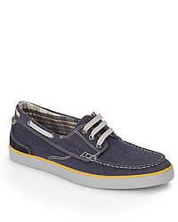 Clarks Jax Denim Boat Shoes