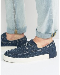 Timberland Newport Bay Canvas Print Boat Shoes