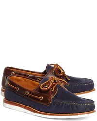 Brooks Brothers Rancourt Co Waxed Canvas Boat Shoes