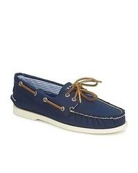 Sperry Top-Sider Ao 2 Eye Canvas Navy Boat Shoes