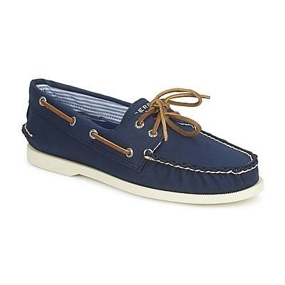 Sperry Top-Sider Ao 2 Eye Canvas Navy Boat Shoes | Where to buy ...