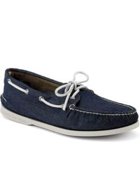 Sperry Topsider Shoes Soft Canvas Authentic Original 2 Eye Boat Shoe Navy Canvas