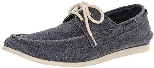 fb5931b16a6 Madden M Glide Boat Shoe. Navy Canvas Boat Shoes by Steve Madden