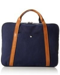 Navy Canvas Briefcase