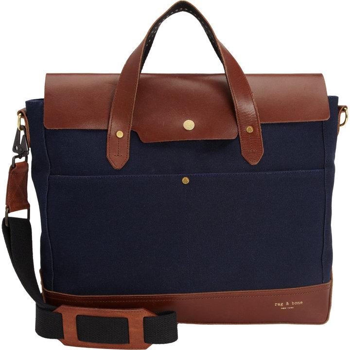 ... Rag And Bone Rag Bone Rugged Briefcase Blue