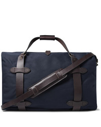 Filson Leather Trimmed Twill Duffle Bag