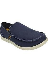 Crocs Santa Cruz Navystucco Canvas Shoes