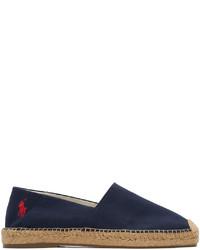 Polo Ralph Lauren Navy Canvas Cevio Espadrilles