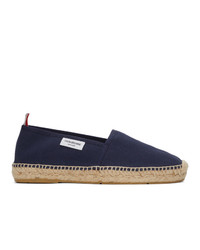 Thom Browne Navy Canvas Espadrilles