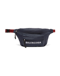 Balenciaga Embroidered Canvas Belt Bag
