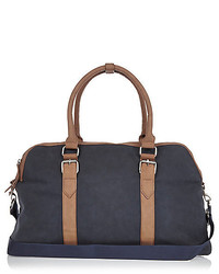 River Island Navy Rubber Holdall Bag