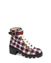 Gucci Trip Lug Sole Combat Boot