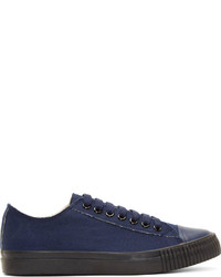 Navy Canvas Low Top Sneakers