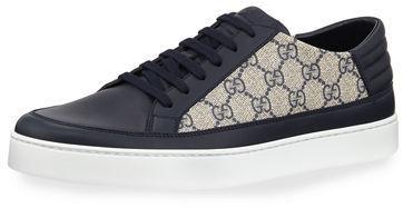 fb8fb196422129 Gucci Common Gg Supreme Low Top Sneakers, $550 | Neiman Marcus ...