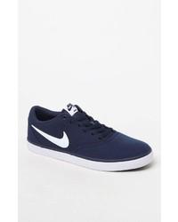 Nike Sb Check Solarsoft Canvas Navy White Shoes