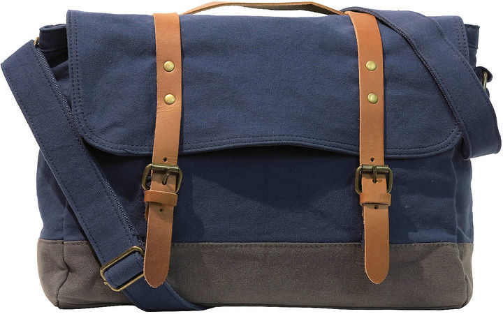 Asstd National Brand Two Color Canvas Messenger Bag | Where to buy ...