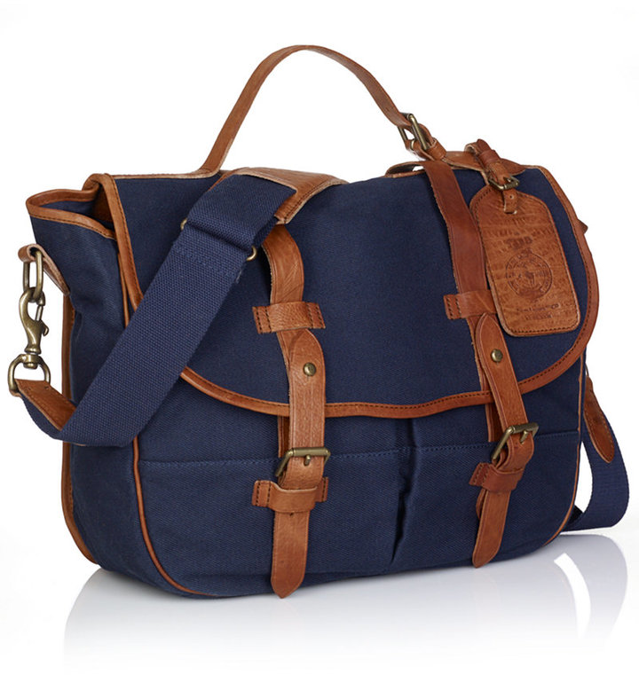 98dbbaef3a ... Polo Ralph Lauren Canvas Messenger Bag ...