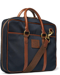 ... Polo Ralph Lauren Leather Trimmed Canvas Bag ...