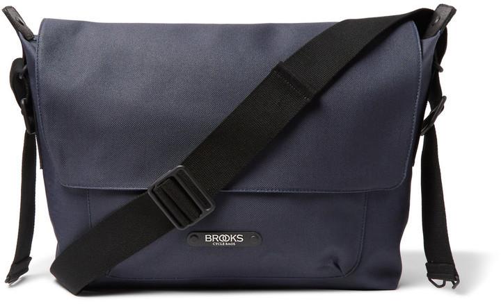 Brooks England Crosby Coated Cotton Canvas Messenger Bag