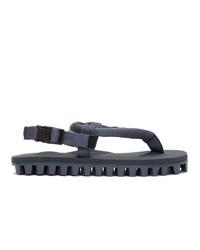 Suicoke Navy Gut Ribbed Sole Flip Flops