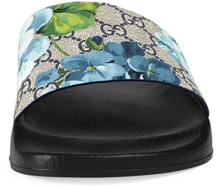 c371ab32b9b Gucci Pursuit Gg Blooms Canvas Sandal Multi