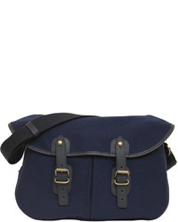 Upla Navy Canvas Satchel