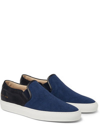 Navy Canvas Slip-on Sneakers