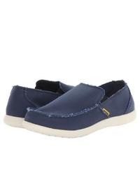 Crocs Santa Cruz Slip On Shoes Navystucco