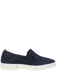 Rivieras Cotton Canvas Slip On Sneakers