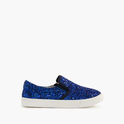 J.Crew Girls Slide Sneakers In Glitter