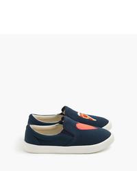 J.Crew Girls Slide Sneakers In Pizza Heart