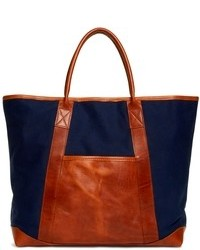 Canvas and leather tote medium 95068