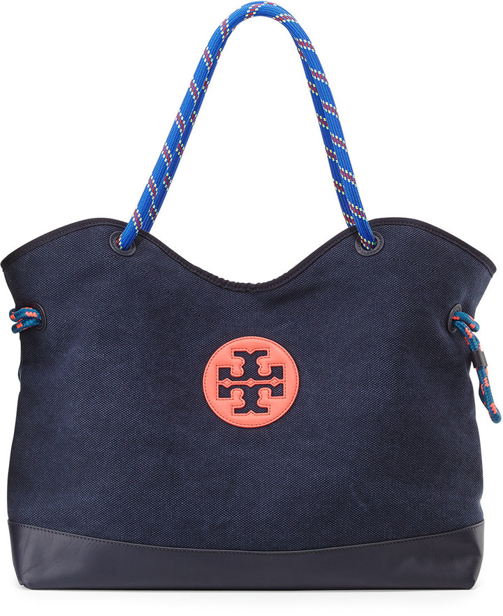 af260e3e8529 ... Tory Burch Kellyn Canvas Tote Bag Tory Navy ...