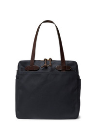 Filson Leather Trimmed Cotton Twill Tote Bag