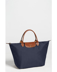 Longchamp le pliage tote navy medium 131596
